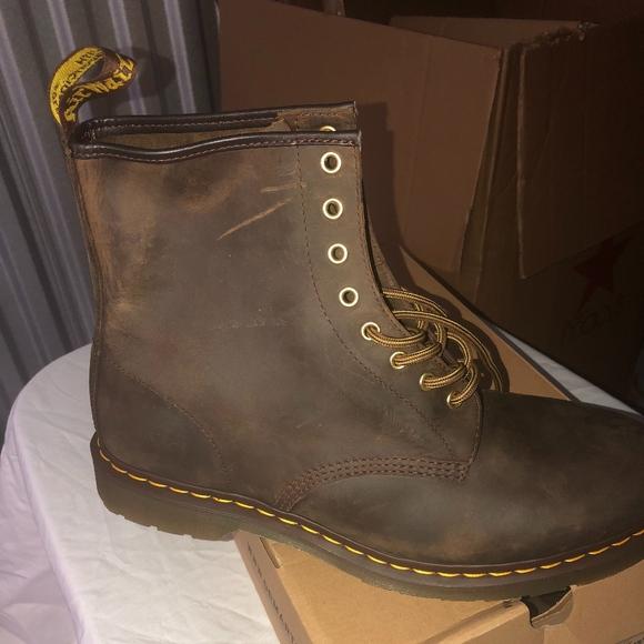 0805e18aea646 Dr. Martens Shoes | Dr Martens 1460 Aztec Brown Crazy Horse Boot ...